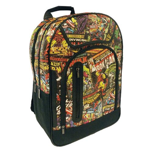 Marvel Comics Black Backpack