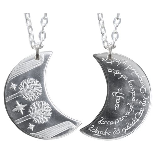 The Lord of the Rings Rivendell Silver Moon Necklace