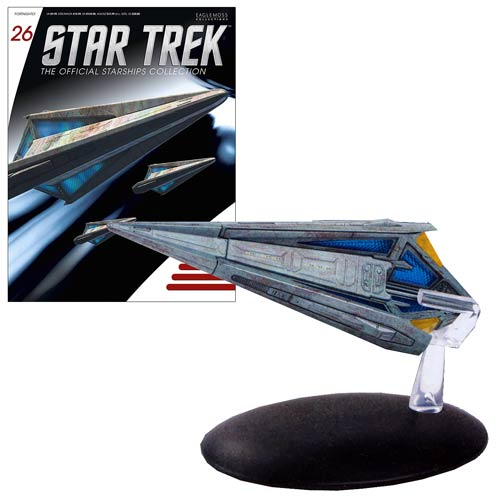 Star Trek Starships Tholian Starship Vehicle with Collector Magazine