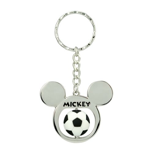 Mickey Mouse Football Spinner Pewter Key Chain
