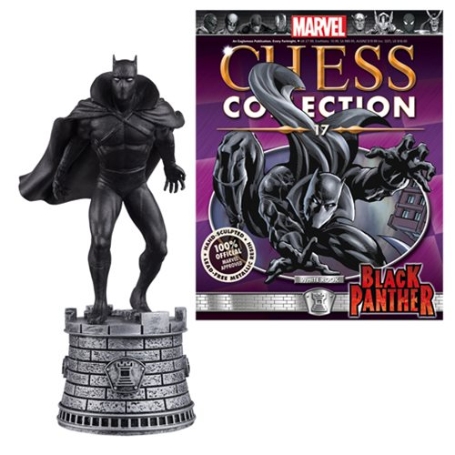 Marvel Black Panther White Rook Chess Piece with Collector Magazine