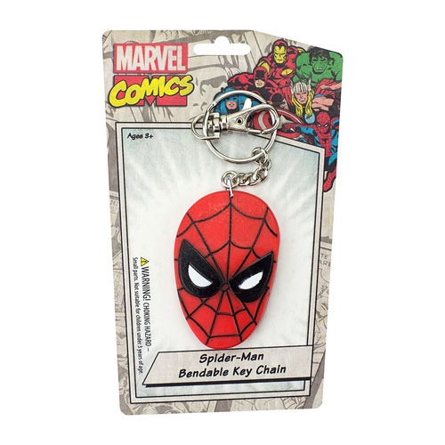 Spider-Man Face 3-Inch Bendable Key Chain