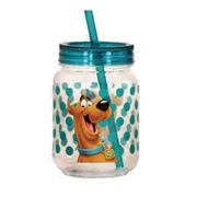 Scooby-Doo Acrylic 18 oz. Mason-Style Jar with Lid