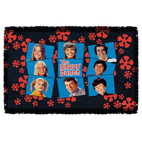 The Brady Bunch Squares Woven Tapestry Throw Blanket