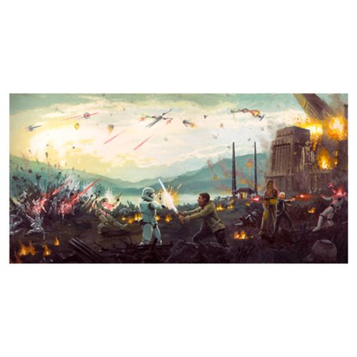 Star Wars: The Force Awakens Attack on Takodana by Christopher Clark Canvas Giclee Art Print