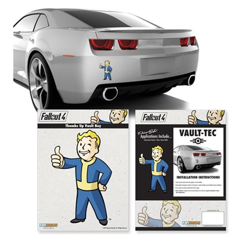 Fallout 4 Vault Boy Mini Car Decal