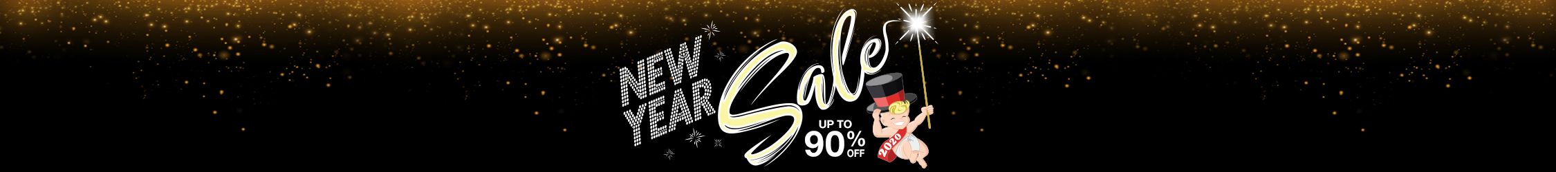 New Year Sale 2019 Up to 90% Off!
