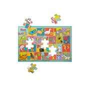 Melissa & Doug Natural Play ABC Animals 35-Piece Giant Floor Puzzle
