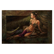 Star Wars Classic Trilogy Leia Study by Lee Khose Rolled Canvas Giclee Print