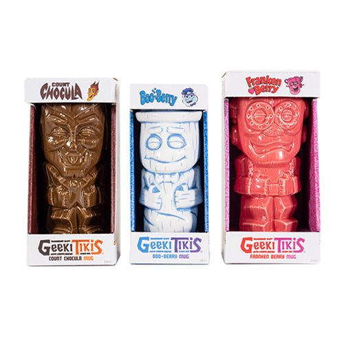 Cereal Monster Geeki Tiki Mug 3-Pack Set