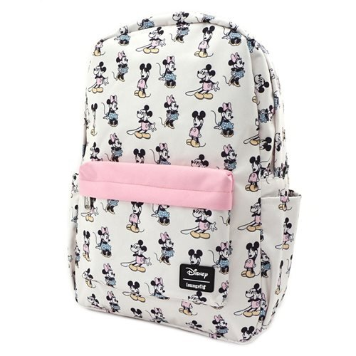 Mickey and Minnie Mouse Pastel Nylon Backpack