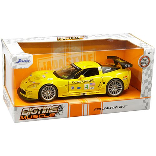 Bigtime Muscle Chevy 2005 Corvette C6R Yellow 1:24 Scale Die-Cast Vehicle