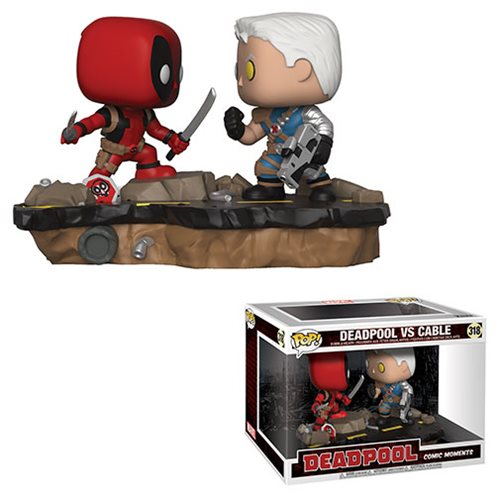 Marvel Deadpool VS Cable Pop Vinyl Comic Moments