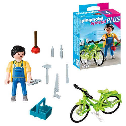 Playmobil 4791 Special Plus Handyman with Bike Action Figure