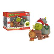 Dr. Seuss The Grinch and Max on Sled Dorbz Ridez Figure