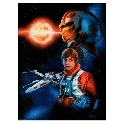 Star Wars Trust the Force by Claudio Aboy Lithograph Art Print