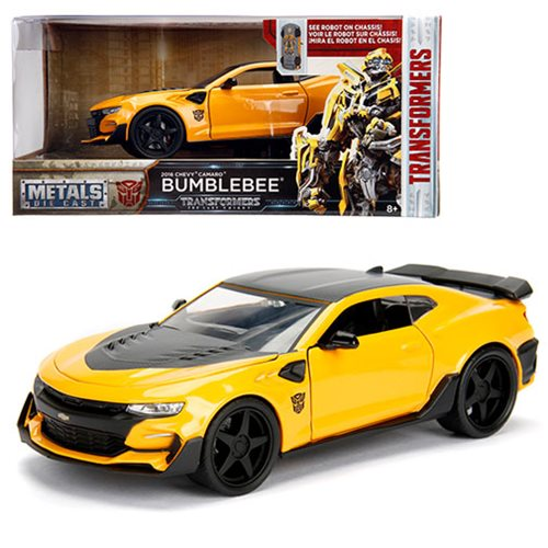 Transformers: The Last Knight Bumblebee Chevy Camaro 1:24 Scale Die-Cast  Metal Vehicle