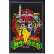Mighty Morphin Power Rangers Classic Megazord Framed Art Print