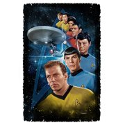 Star Trek Among the Stars Woven Tapestry Throw Blanket