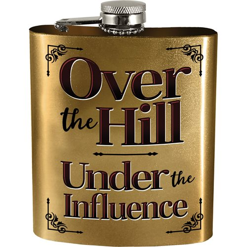 Over the Hill Hip Flask