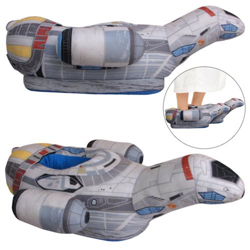 Firefly Serenity Ship Oversized Plush Slippers - Exclusive