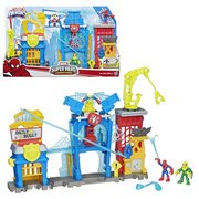 Marvel Super Hero Adventures Spider-Man Web-Quarters Playset