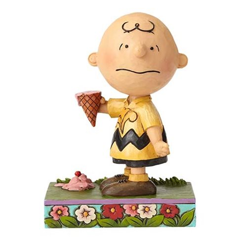 Peanuts Jim Shore Charlie Brown with Ice Cream Statue