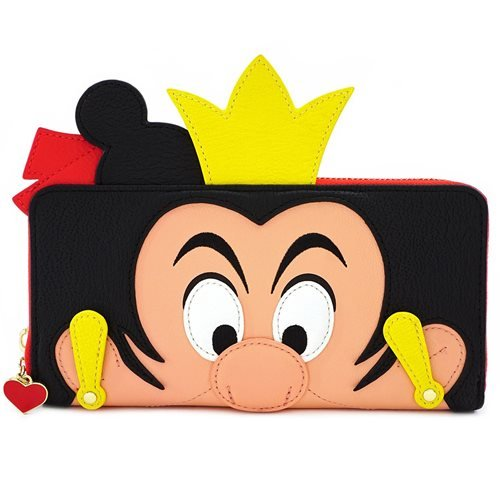 Alice in Wonderland Queen of Hearts Zip-Around Wallet