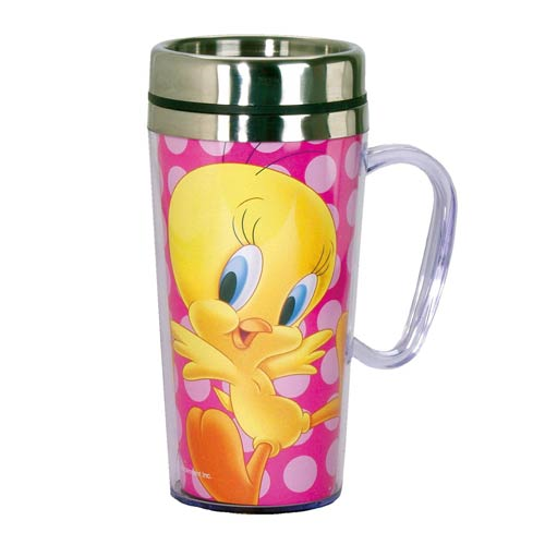 Looney Tunes Tweety Bird 14 oz. Stainless Steel Travel Mug