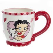 Betty Boop and Pudgy In Heart 14 oz. Mug