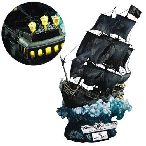 Pirates of the Caribbean Dead Men Tell No Tales Master Craft Series Black Pearl Statue
