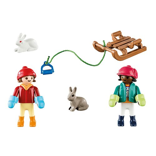 Playmobil 70250 Special Plus Children with Sleigh Action Figures