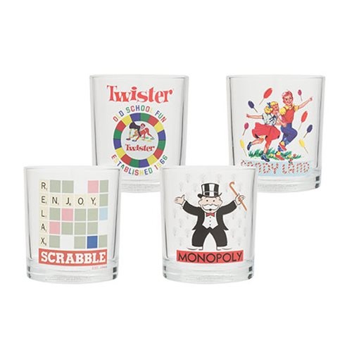 Hasbro Games 4 pc. 10 oz. Highball Glass Set