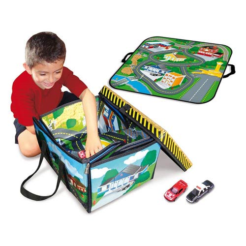 Full Throttle ZipBin Small Town Toy Box and Playmat Carry Case