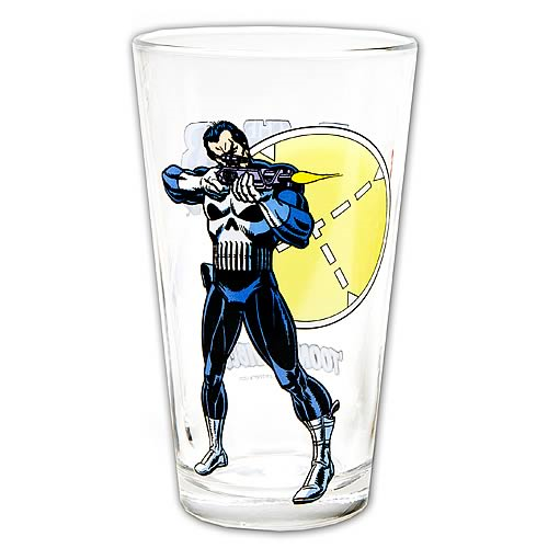 Punisher Toon Tumbler Pint Glass