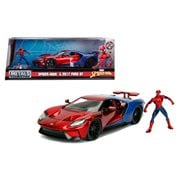 Spider-Man Hollywood Rides 2017 Ford GT 1:24 Scale Die-Cast Metal Vehicle with Figure