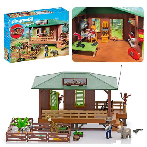 Playmobil 6936 Ranger Station with Animal Area Playset