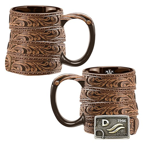 John Wayne Red River Buckle 20 oz. Sculpted Ceramic Mug