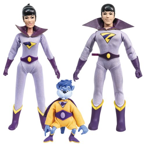 Super Friends Series 1 The Wonder Twins with Gleek 8-Inch Retro Action Figure Set
