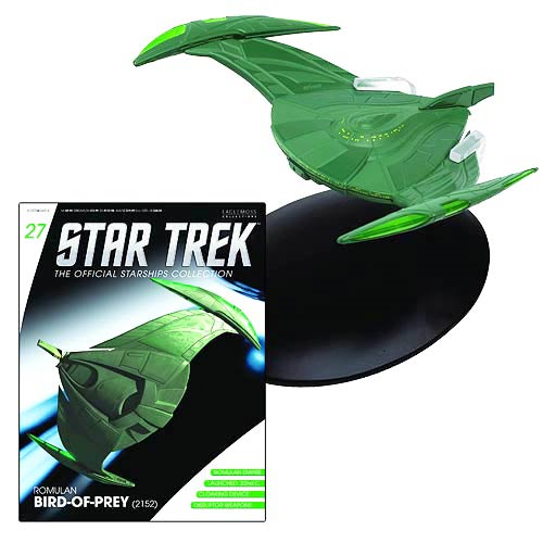 Star Trek Starships Romulan Bird of Prey Vehicle with Collector Magazine