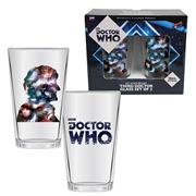 Doctor Who Anniversary Third Doctor 16 oz. Glass Set of 2