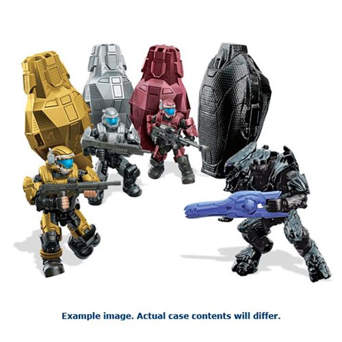 Mega Bloks Halo Metallic Series Drop Pods Wave 3 Set