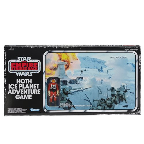 Star Wars The Empire Strikes Back Hoth Ice Planet Retro Game with Exclusive Retro Luke Skywalker Act