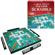 Scrabble Tile Lock Large Print Game