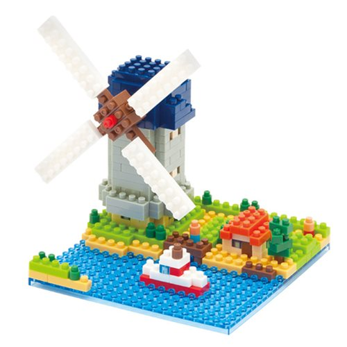 Kinderdijk Windmill Nanoblock Constructible Figure