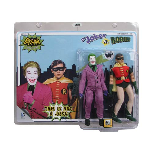 Batman Classic 1966 TV Series The Joker vs. Robin 8-Inch Action Figure Set