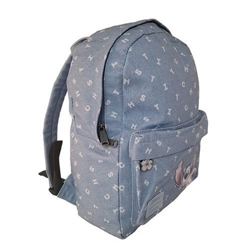 Lilo and Stitch Printed Letters Twill Backpack