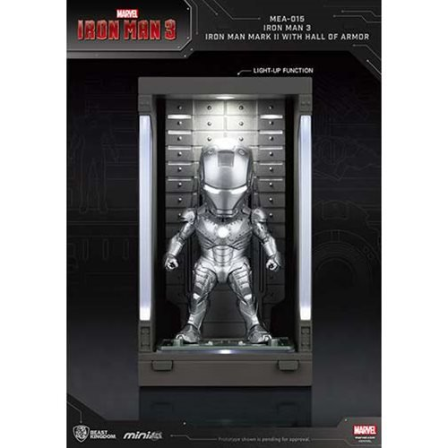 Iron Man 3 MEA-015 Iron Man MK II Action Figure with Hall of Armor Display - Previews Exclusive