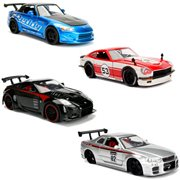 JDM Tuners 1:24 Scale Die-Cast Metal Vehicles Wave 1A Case