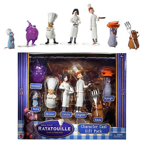 Ratatouille Character Cast Gift Pack Action Figures